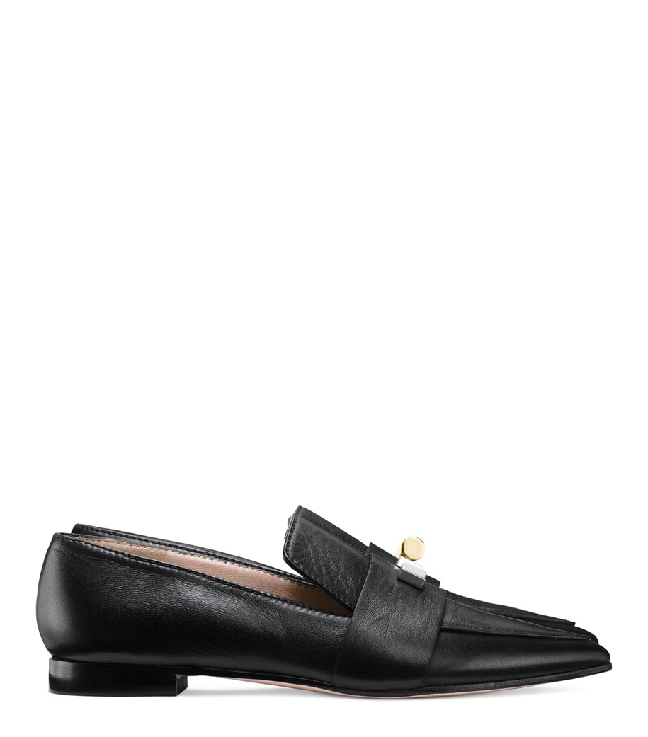 Stuart Weitzman Vega Embellished Leather Loafers Sale Free Shipping Cheap Sale Get To Buy Free Shipping Outlet Store fpZd8L